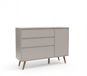 Cômoda Retro Clean Eco Wood C/Porta - Cinza - Matic