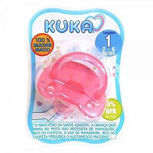 Chupeta de Silicone Soft 0-6m - Rosa - Kuka