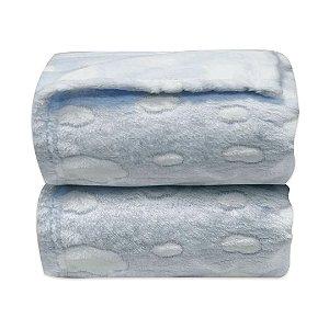 Cobertor Relevo Nuvens - Azul - Laço Bebê