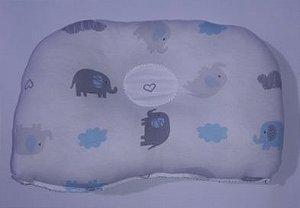 Kit com 4 Travesseiros Elefante - Azul - Bambi