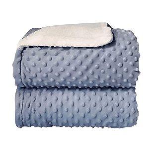 Cobertor Sherpam Dots - Azul - Laço Bebê