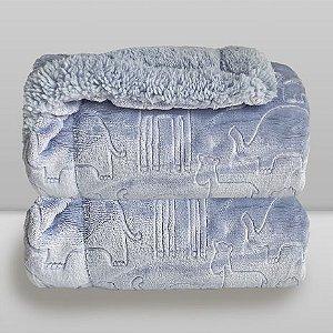 Cobertor Ferrete - Azul - Laço Bebê