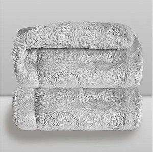 Cobertor Ferrete - Cinza - Laço Bebê