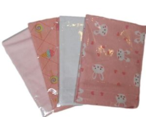 Kit Fronha Lisa e Estampada - 4 unidades - Bambi