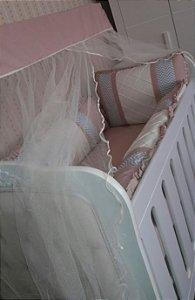 Kit Berço com 9 peças - Geométrico/Rose - D' Souza Baby