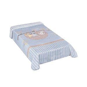 Cobertor Hipoalérgico Le Petit - Preguiça Azul - Colibri