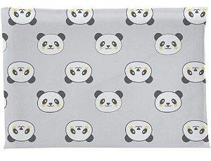 Travesseiro Antissufocante Panda - Cinza - Bambi