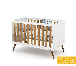 Berço Gold Eco Wood - Branco Soft/Freijó - Matic