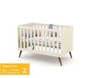 Berço Gold Eco Wood - Off White - Matic