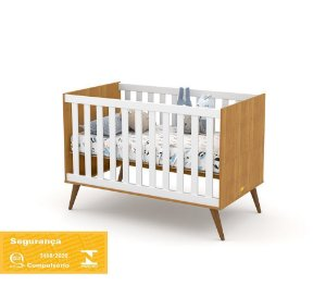 Berço Gold Eco Wood - Freijó/Branco Soft - Matic