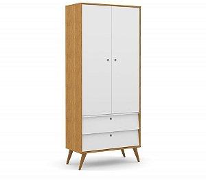 Guarda Roupa 2 Portas Gold Eco Wood - Freijó/Branco Soft - Matic