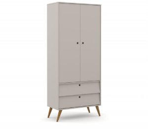 Guarda Roupa 2 Portas Gold Eco Wood - Cinza - Matic