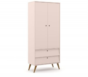Guarda Roupa 2 Portas Gold Eco Wood - Rose - Matic