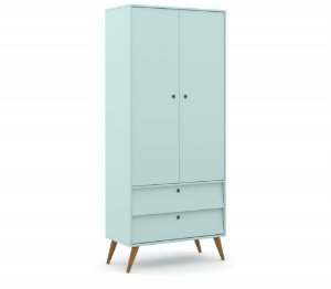 Guarda Roupa 2 Portas Gold Eco Wood - Menta - Matic
