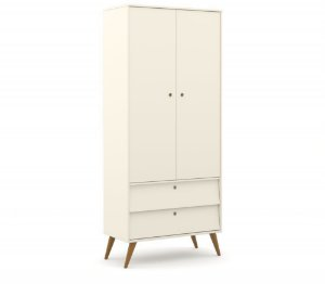 Guarda Roupa 2 Portas Gold Eco Wood - Off White - Matic