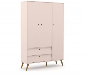Guarda Roupa 3 Portas Gold Eco Wood - Rose - Matic