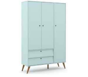 Guarda Roupa 3 Portas Gold Eco Wood - Menta - Matic