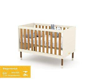 Berço Up Eco Wood - Off White/Freijó - Matic