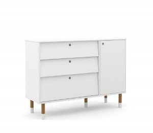 Cômoda Up Eco Wood - Branco Soft - Matic
