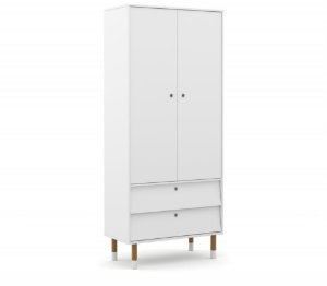 Guarda Roupa 2 Portas Up Eco Wood - Branco Soft - Matic