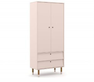 Guarda Roupa 2 Portas Up Eco Wood - Rose - Matic