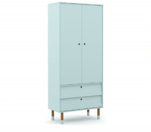 Guarda Roupa 2 Portas Up Eco Wood - Menta - Matic