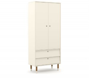 Guarda Roupa 2 Portas Up Eco Wood - Off White - Matic
