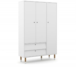 Guarda Roupa 3 Portas Up Eco Wood - Branco Soft - Matic