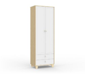 Guarda Roupa Rope com 2 Portas - Natural/Branco Soft - Matic
