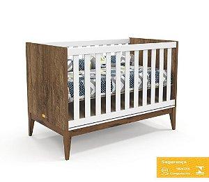 Berço Nature Eco Wood - Branco Soft/Teka - Matic
