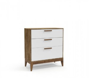 Cômoda Nature Eco Wood - Branco Soft/Teka - Matic