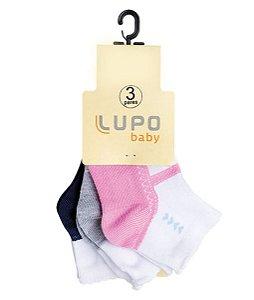 Kit Meia 3 Pares - Estampada - Lupo Baby