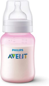Mamadeira Anti-Colic 260ml +1m - Rosa - Philips Avent