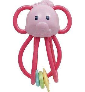Chocalho Elefantinho - Rosa - Buba
