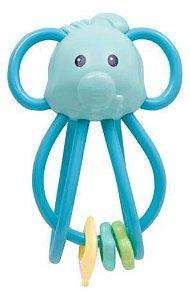 Chocalho Elefantinho - Azul - Buba