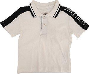 Camisa Polo Infantil Masculina - Branco/Marfim - Playground