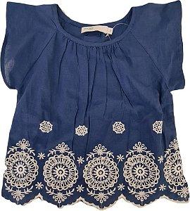 Blusa Infantil Feminina - Azul - Malwee