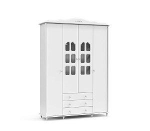 Guarda Roupa Provence 4 Portas - Branco Soft - Matic