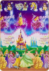 Tapete Recreio Disney Princesas 120 x 180 cm - Jolitex
