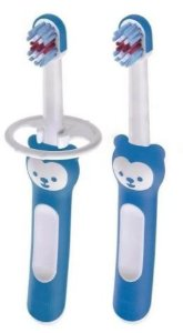 Kit Escova Dental Baby's Brush 2 un +6M - Azul - MAM