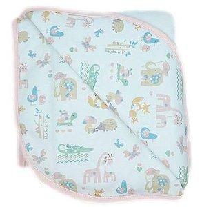 Cobertor Soft 94 x 77 cm - Safari Meninas - Anjos Baby