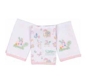 Kit com 3 Fraldinhas de Boca - Safari Meninas - Anjos Baby