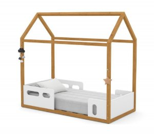 Mini Cama Montessoriana Liv - Branco Soft/Freijó - Matic