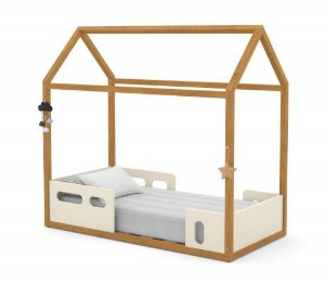 Mini Cama Montessoriana Liv - Off White/Freijó - Matic