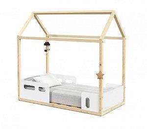 Mini Cama Montessoriana Liv - Branco Soft/Natural - Matic