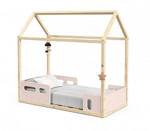 Mini Cama Montessoriana Liv - Rosê/Natural - Matic