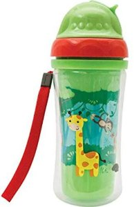 Copo Parede Dupla com Canudo 250 Ml - Animal Fun - Buba