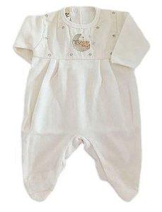 Macacão Infantil Masculino - Off White/Lua - Doce Melado