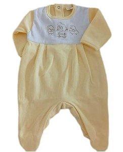Macacão Infantil Masculino - Amarelo/Carneirinhos - Doce Melado