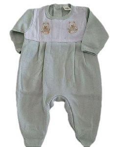 Macacão Infantil Masculino - Verde/Ursos - Doce Melado